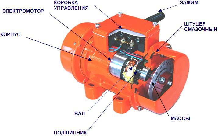 Электродвигатель для виброплиты